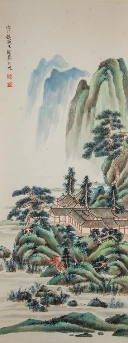 Xie Zhiliu 1910-1997 Chinese Watercolour Scroll