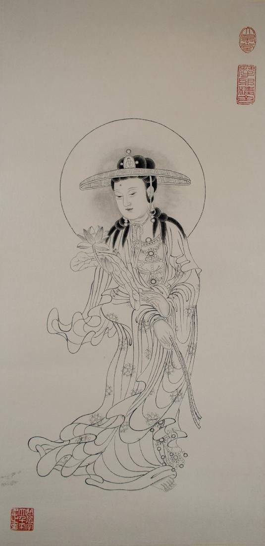 Zhang Daqian 1899-1983 Chinese Ink on Paper Roll