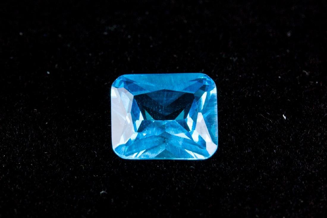 Sea Blue Sapphire 7.52CT Emerald Cut 10X12mm