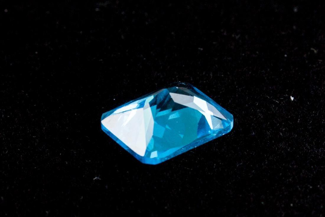 Sea Blue Sapphire 7.52CT Emerald Cut 10X12mm - 2