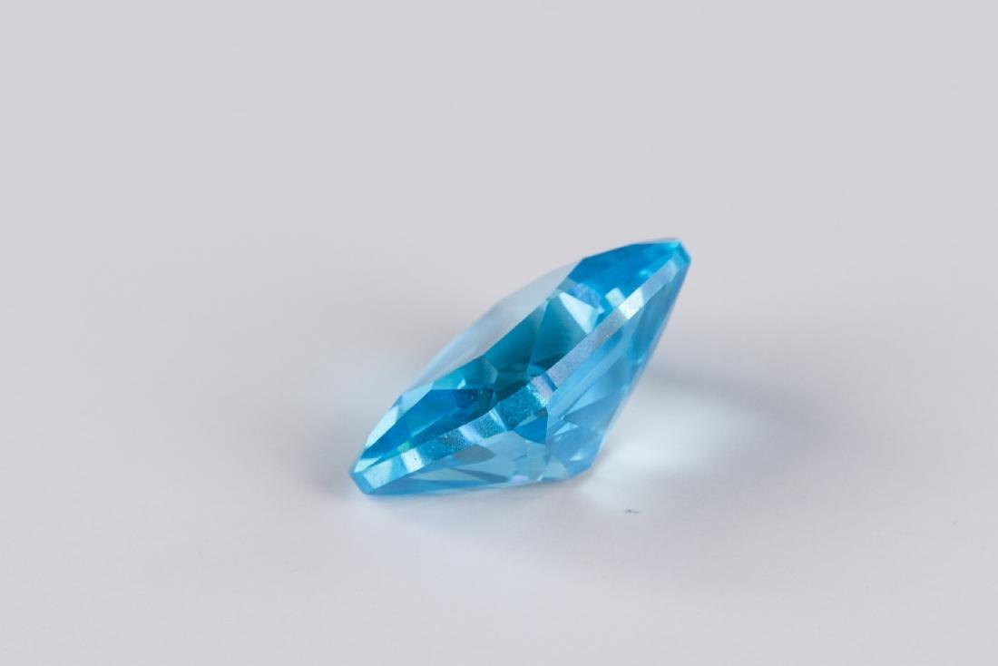 Sea Blue Sapphire 7.52CT Emerald Cut 10X12mm - 4