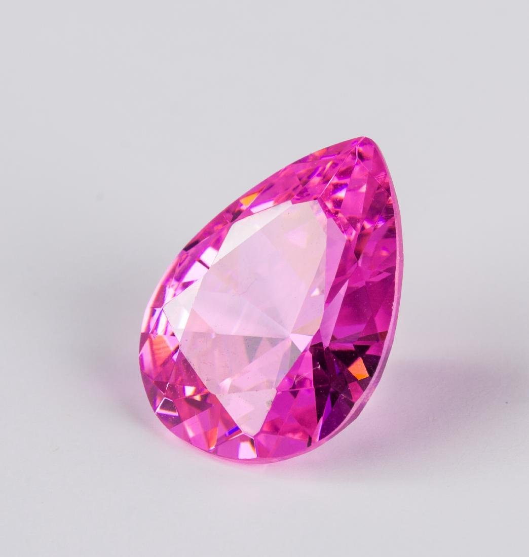 AMAZING 26.7 CT UNHEATED TOP PINK SAPPHIRE 15X20MM - 3
