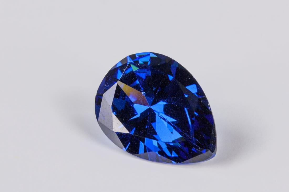 Pear Cut 12.59ct Top Blue Tanzanite 13X18 mm