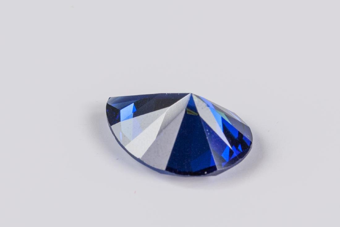 Pear Cut 12.59ct Top Blue Tanzanite 13X18 mm - 2