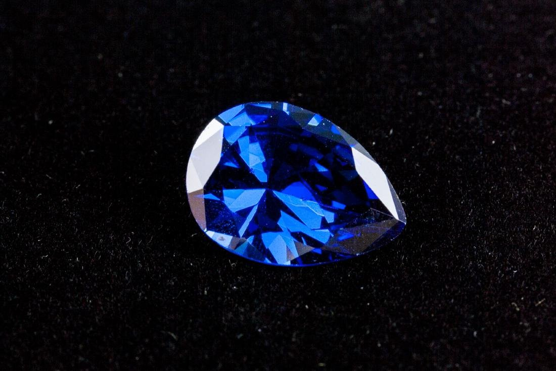 Pear Cut 12.59ct Top Blue Tanzanite 13X18 mm - 3