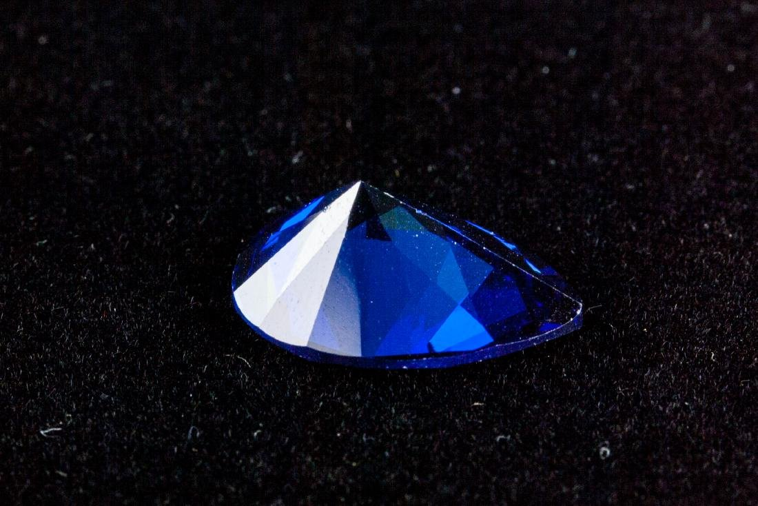 Pear Cut 12.59ct Top Blue Tanzanite 13X18 mm - 4