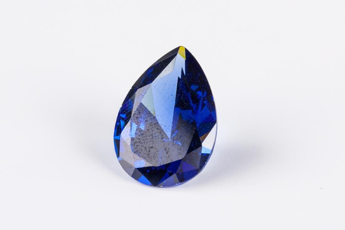 Pear Cut 12.76ct Top Blue Tanzanite 13X18 mm