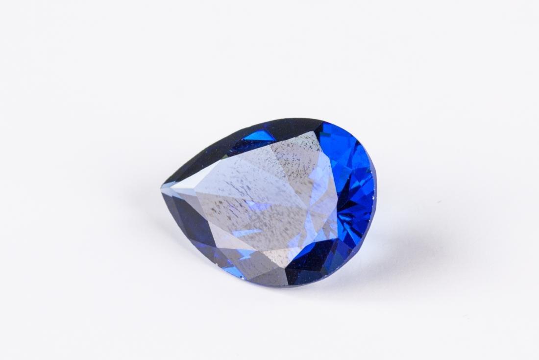 Pear Cut 12.76ct Top Blue Tanzanite 13X18 mm - 2