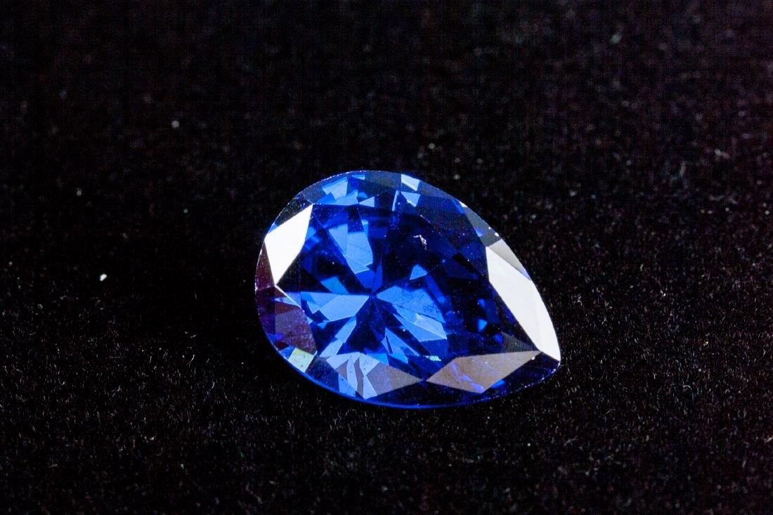 Pear Cut 12.76ct Top Blue Tanzanite 13X18 mm - 3