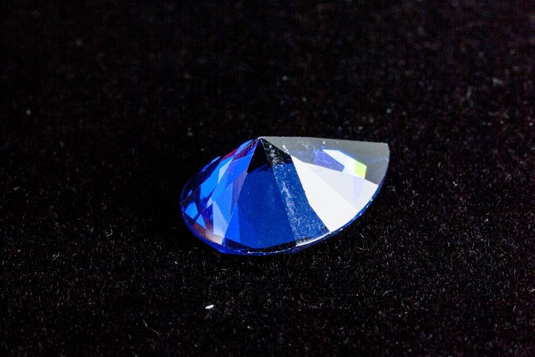 Pear Cut 12.76ct Top Blue Tanzanite 13X18 mm - 4
