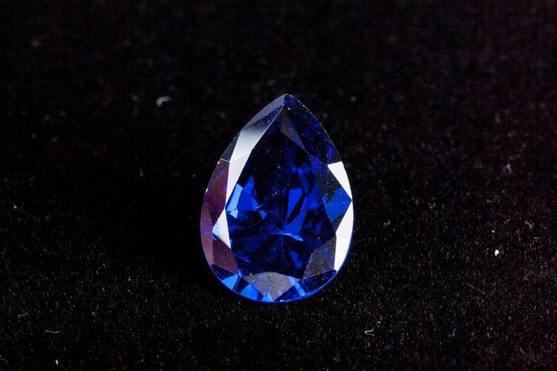 Pear Cut 12.76ct Top Blue Tanzanite 13X18 mm - 5