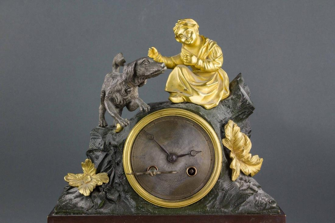 Old European Gilt Table Clock Working Condition - 2