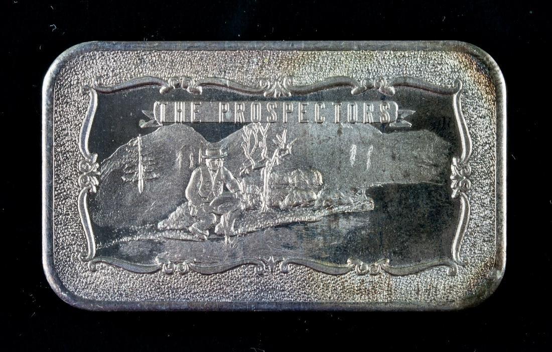1 Oz. 999 Fine Silver Bar -the Prospector Art Bar