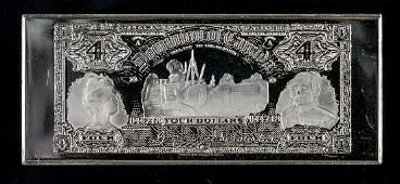 Rare Dominion of Canada Four Dollars Silver