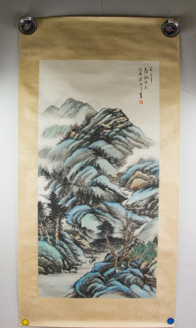 Guan Shanyue 1912-2000 Chinese Watercolour Paper - 2