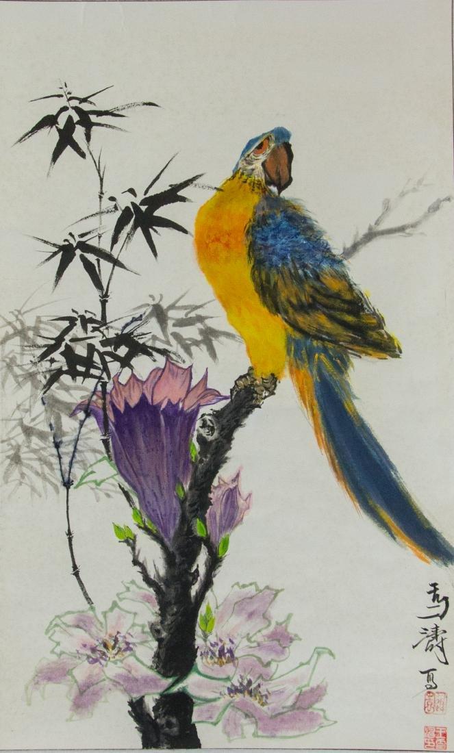 Wang Xuetao 1903-1982 Chinese Watercolour Scroll