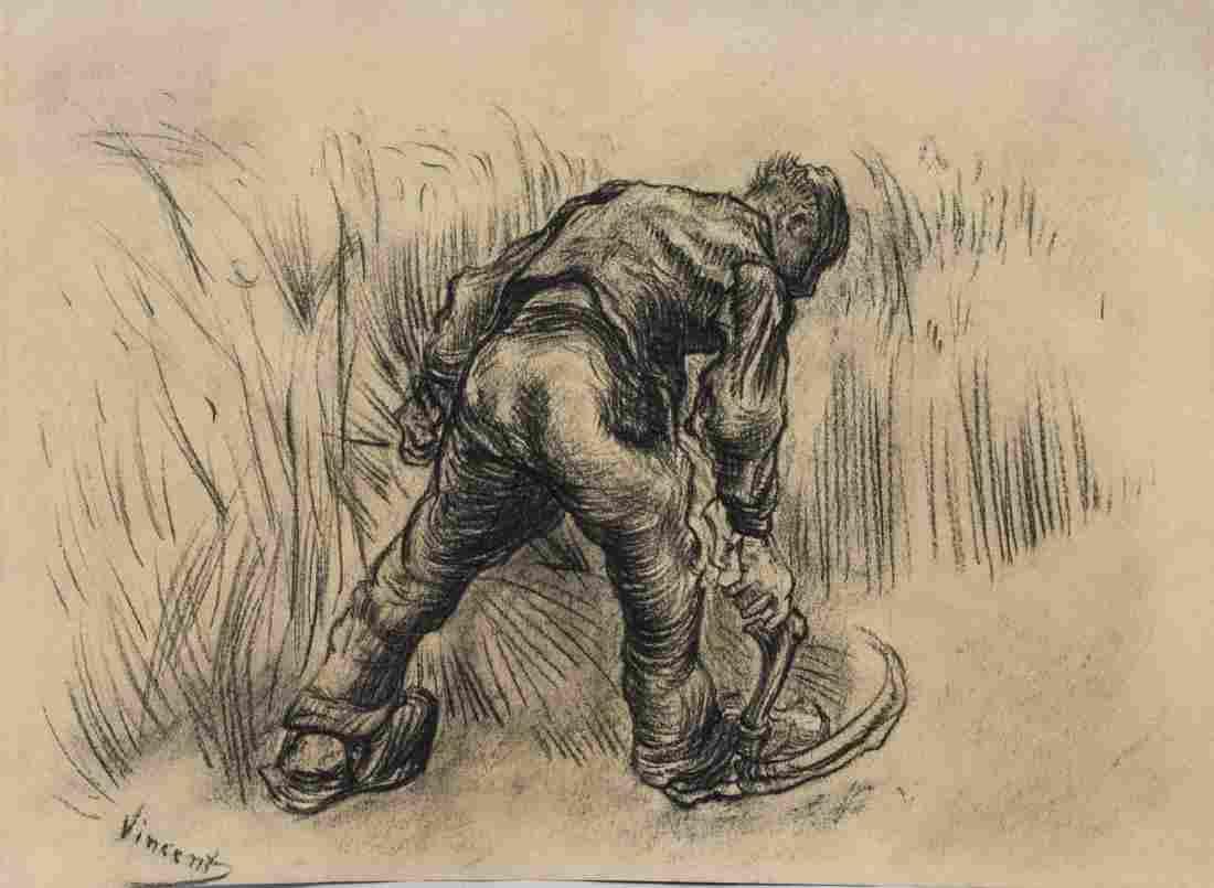 Vincent Van Gogh 1853-1890 Dutch Charcoal Sketch