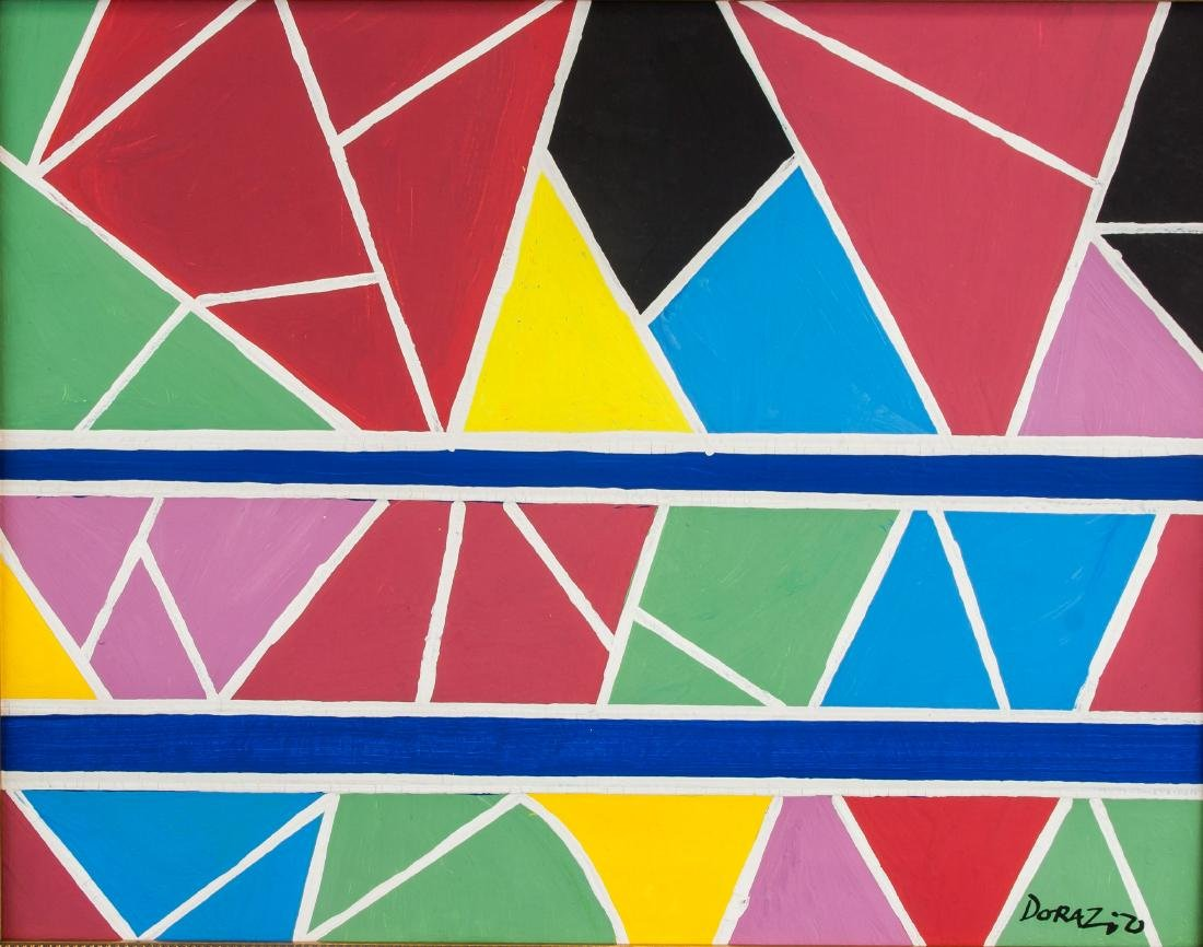 Piero Dorazio 1927-2005 Italian Oil Abstract