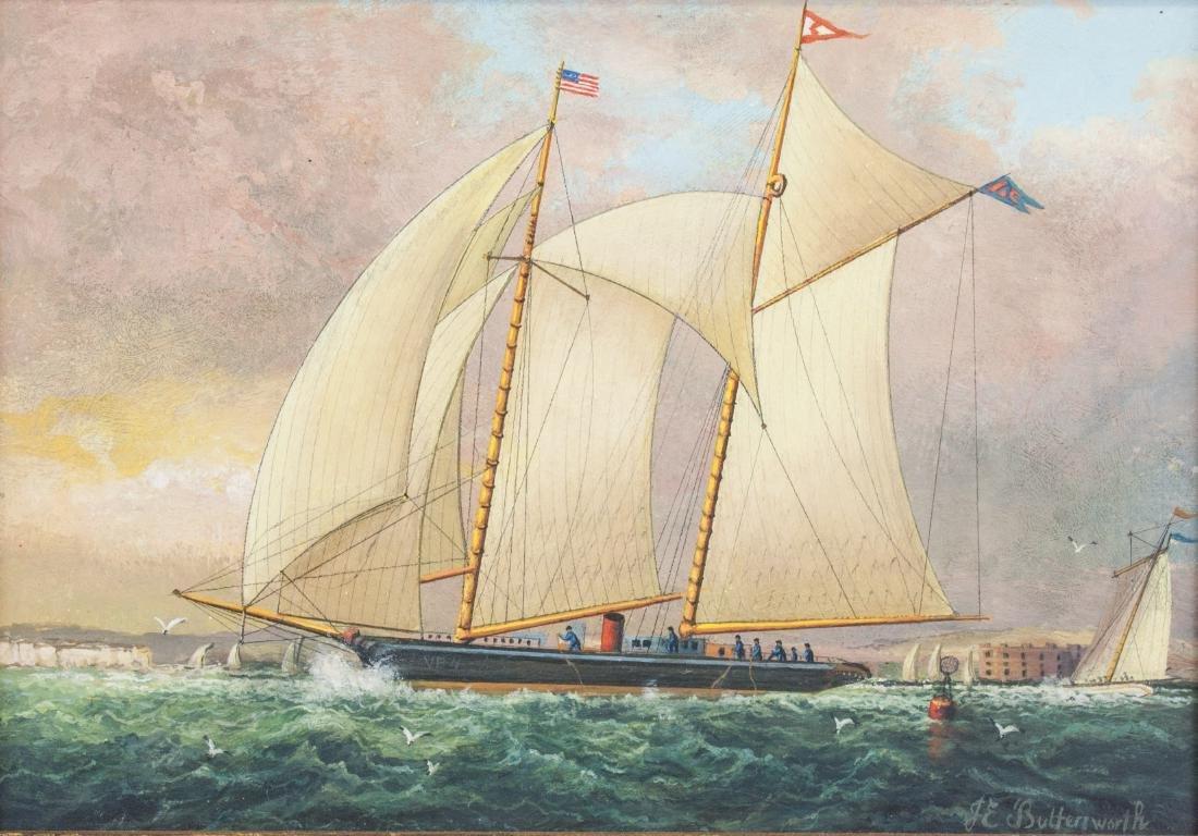 James E. Buttersworth 1817-1894 British Oil Board