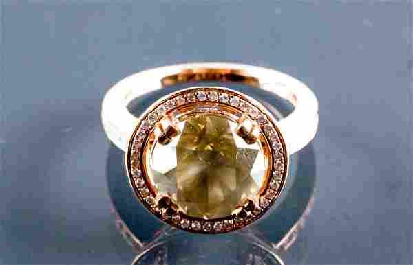 Rose Gold Brilliant 5.60ct Diamond VS1 Ring