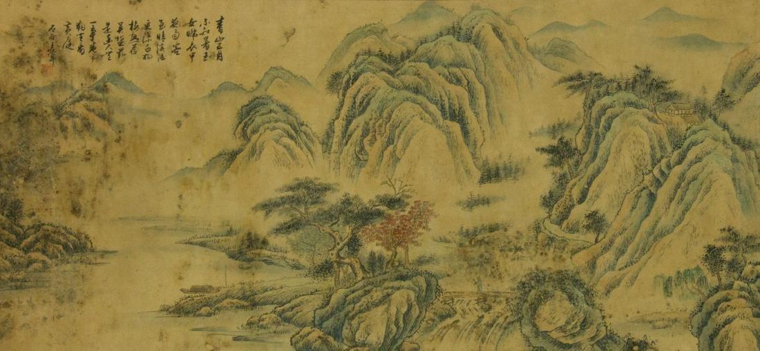 Wang Hui 1632-1717 Watercolour on Paper Scroll