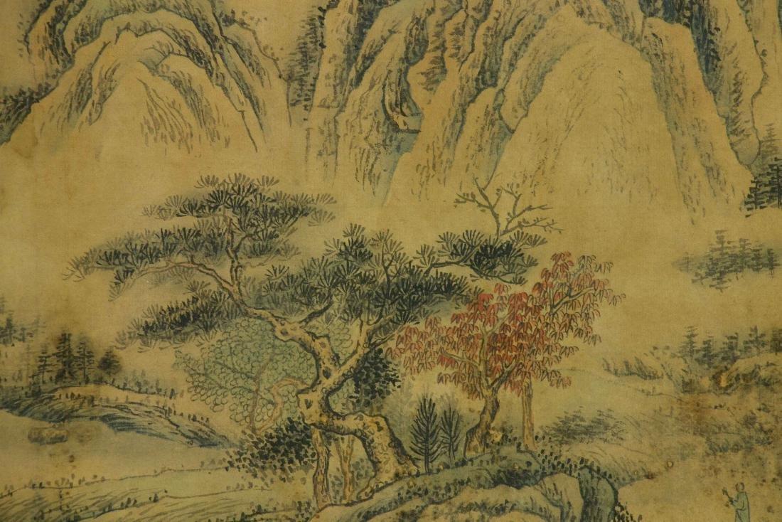 Wang Hui 1632-1717 Watercolour on Paper Scroll - 2