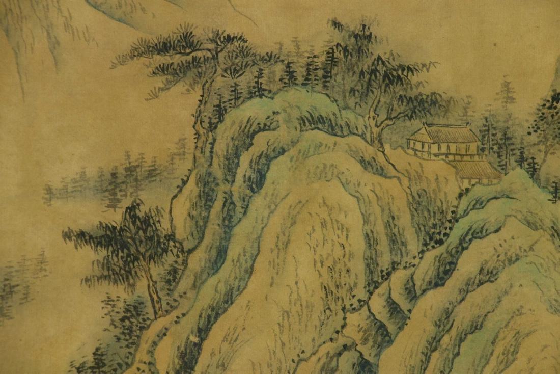 Wang Hui 1632-1717 Watercolour on Paper Scroll - 4
