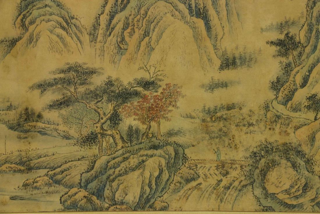 Wang Hui 1632-1717 Watercolour on Paper Scroll - 5