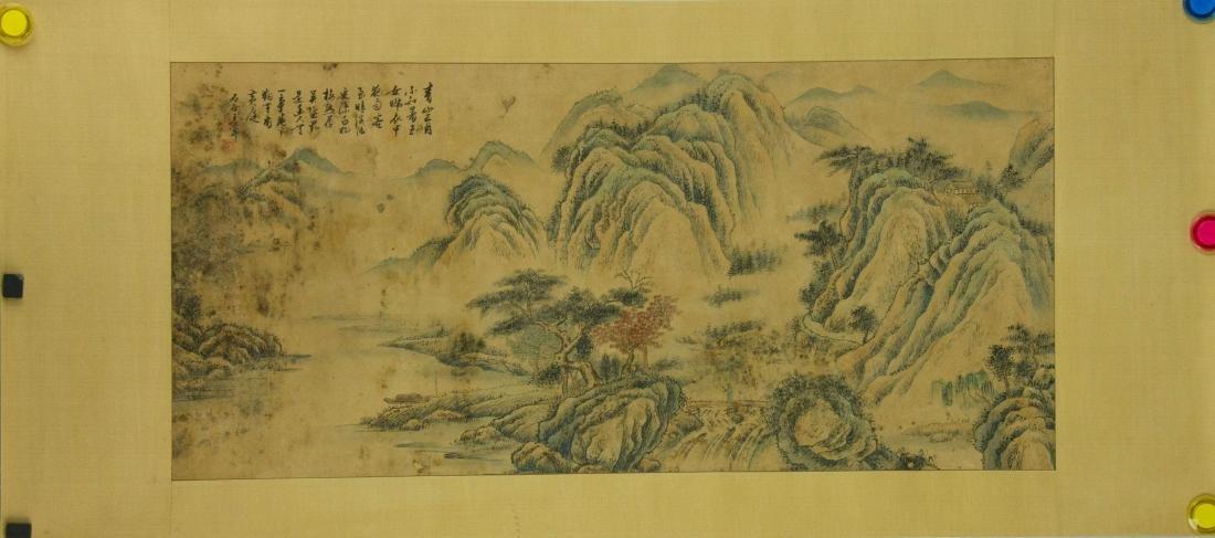 Wang Hui 1632-1717 Watercolour on Paper Scroll - 6