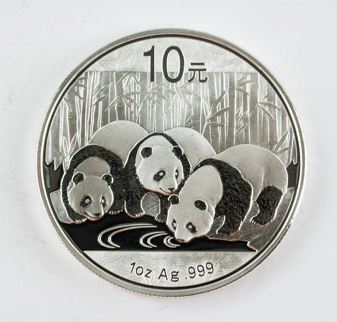 2013 China 10 Yuan Fine Silver (.999) Panda Coin