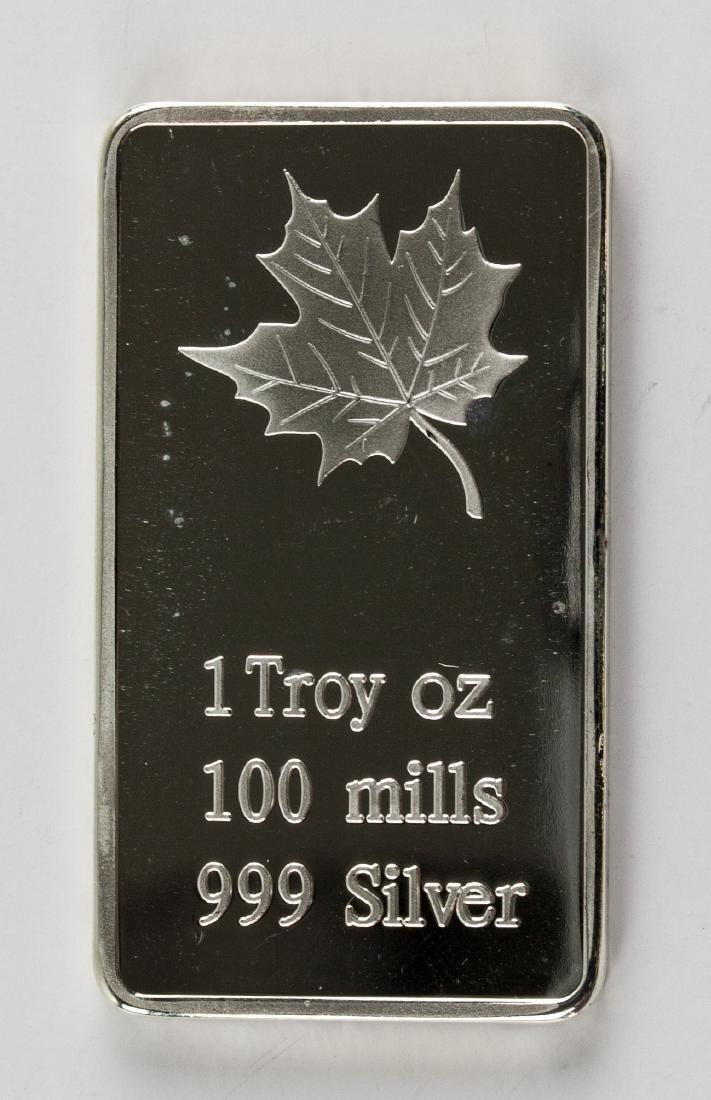Three 1 Troy Ounce Fine Silver Bullion Bar Mint - 3