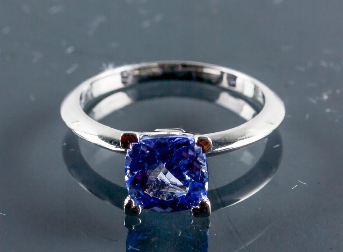 10k Gold 1.95ct Square Cut Violet Tanzanite Ring
