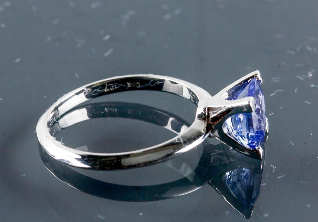 10k Gold 1.95ct Square Cut Violet Tanzanite Ring - 2
