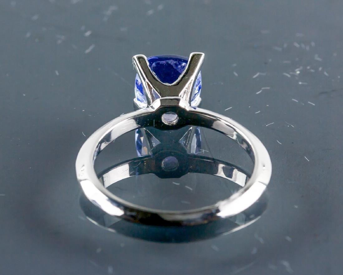 10k Gold 1.95ct Square Cut Violet Tanzanite Ring - 3