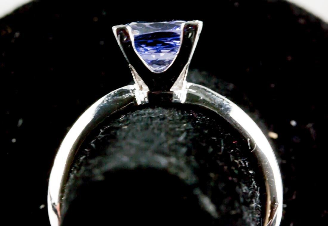 10k Gold 1.95ct Square Cut Violet Tanzanite Ring - 4
