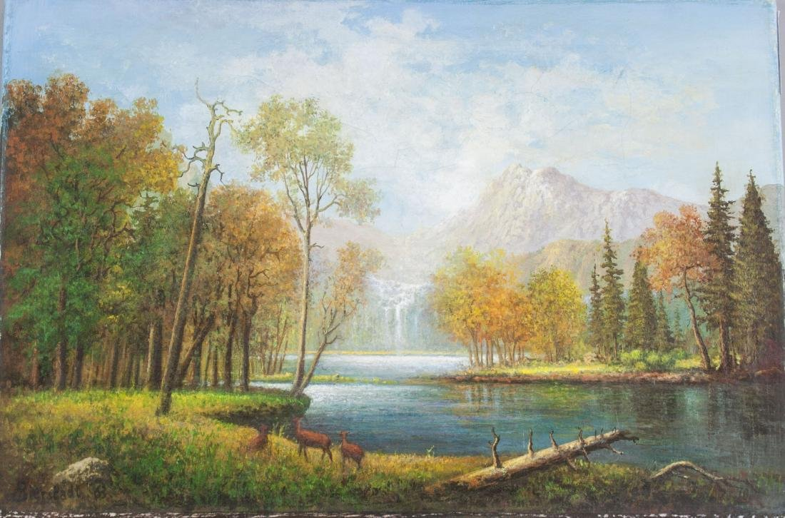 Albert Bierstadt 1830-1902 American Oil on Canvas