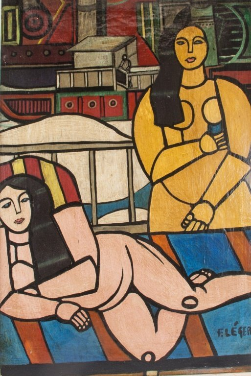Fernand Léger 1881-1955 Two Nudes Oil on Board