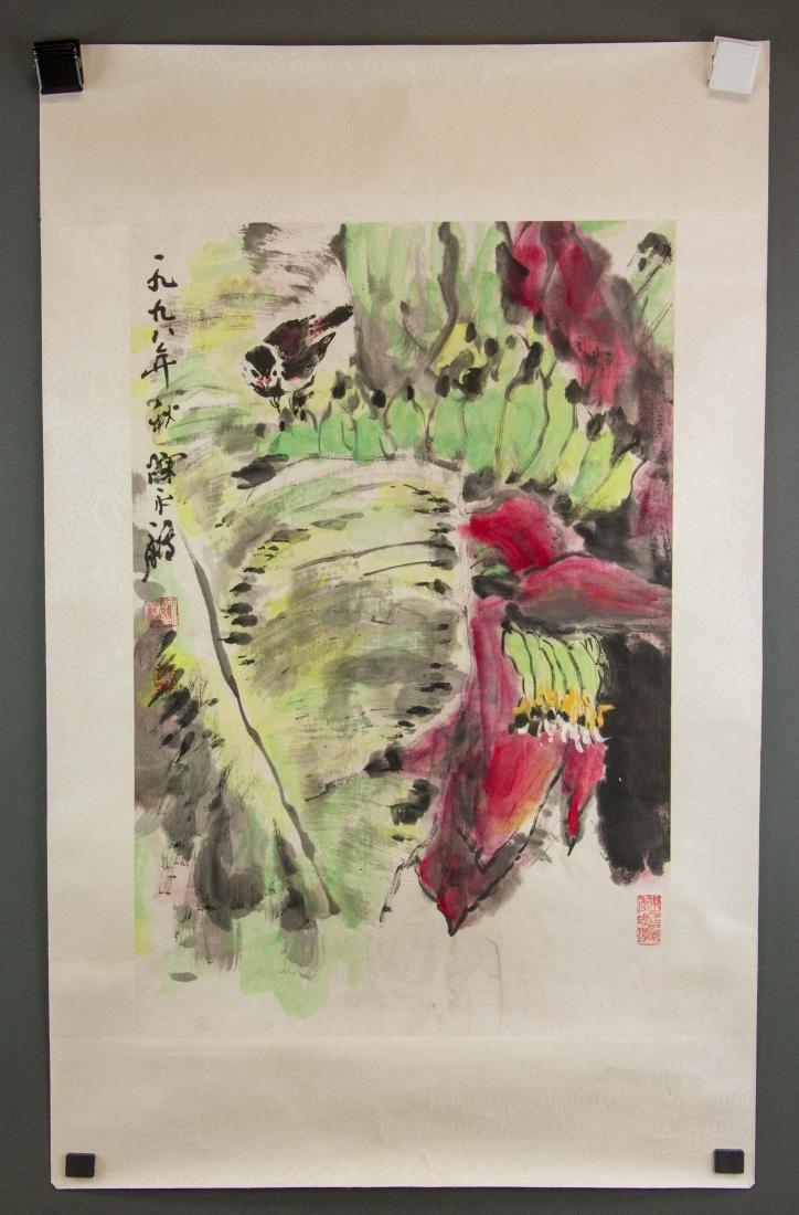 Chen Yongjian Chinese Watercolour on Paper Roll - 2