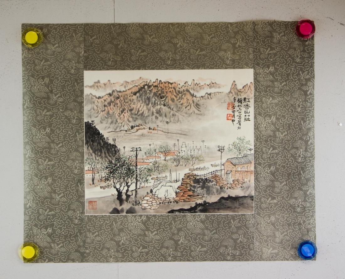 Qian Songyan 1899-1985 Chinese Watercolour Paper - 2