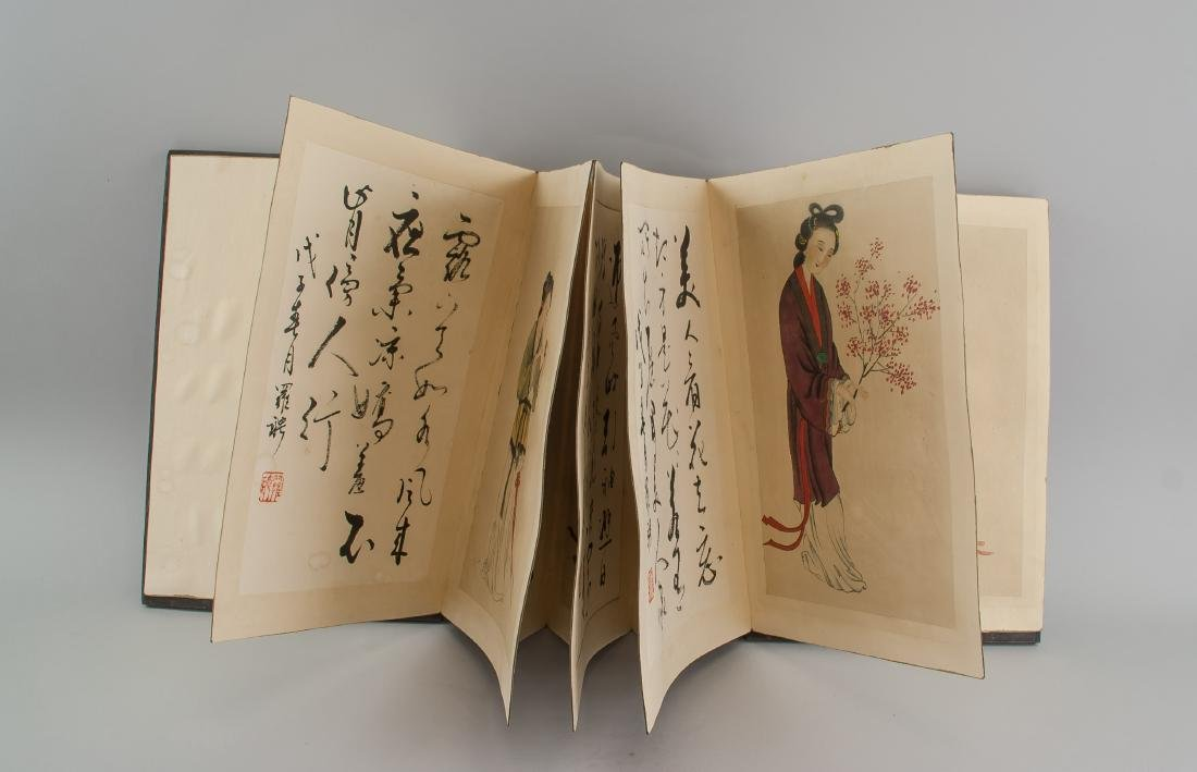 Luo Ping 1733-1799 Chinese Sketchbook Wood Cover - 5