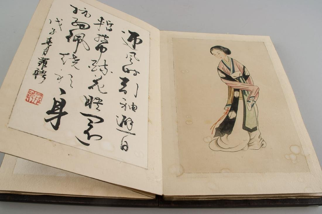 Luo Ping 1733-1799 Chinese Sketchbook Wood Cover - 7