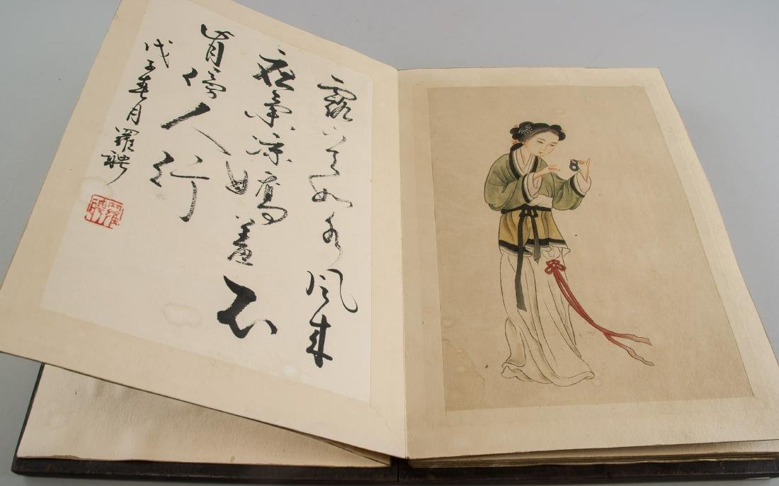 Luo Ping 1733-1799 Chinese Sketchbook Wood Cover - 9