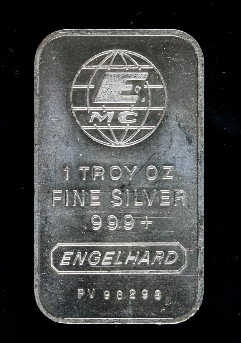 Engelhard (1981) .999 Silver Ingot Art Bar