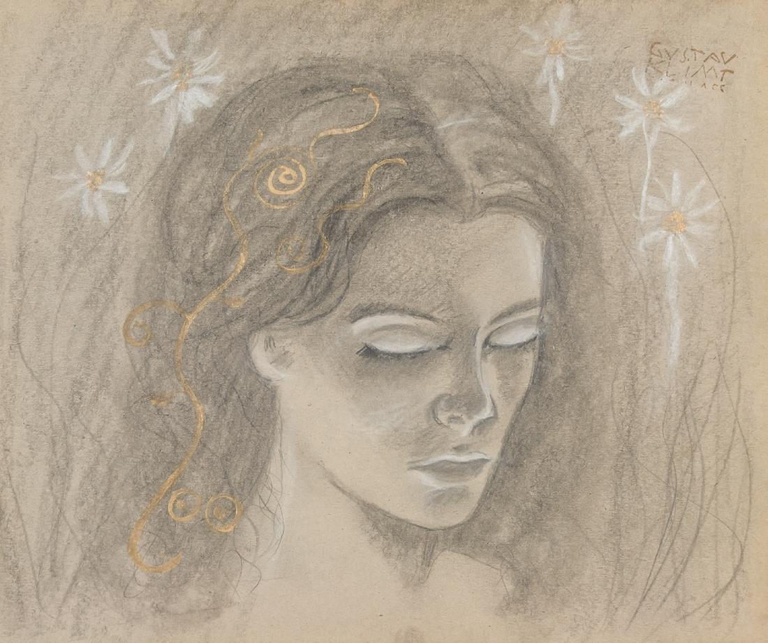 Gustav Klimt 1862-1918 Austria, Ink on Board