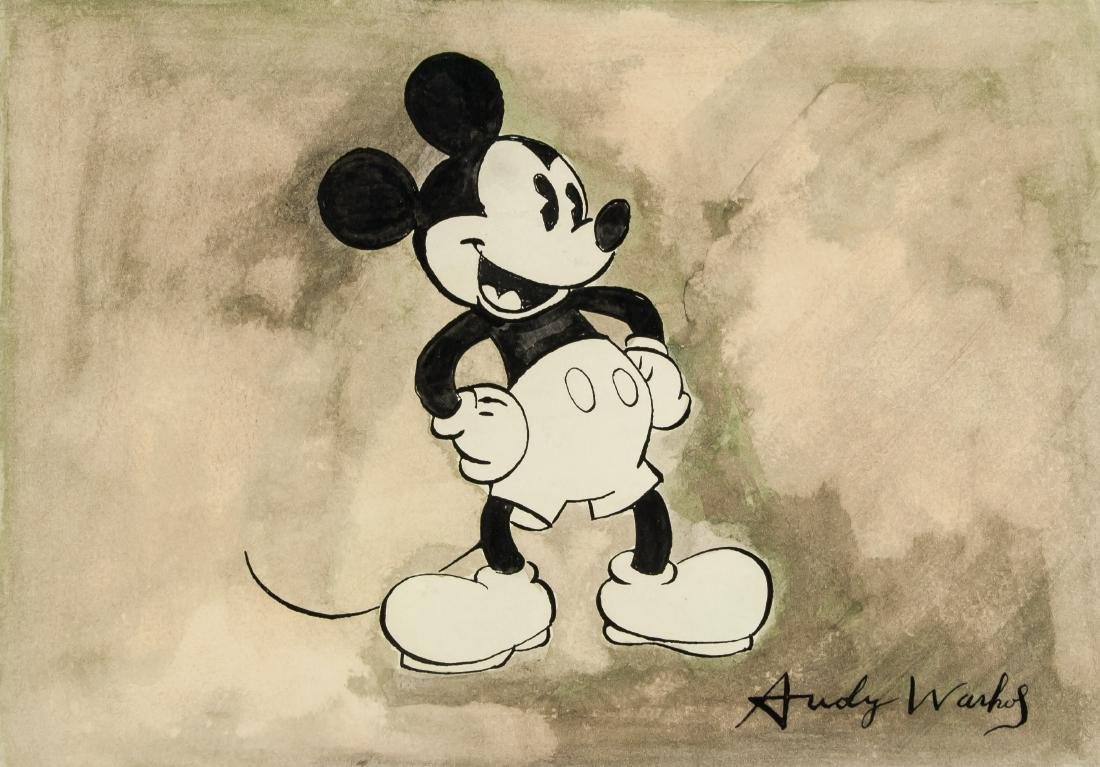 Andy Warhol (American, 1928-1987) Mickey Mouse