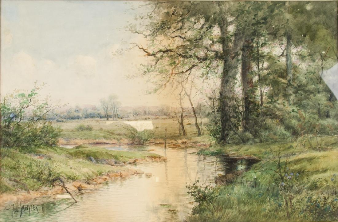 Paul Sawyier American 1865-1917 Watercolor Paper