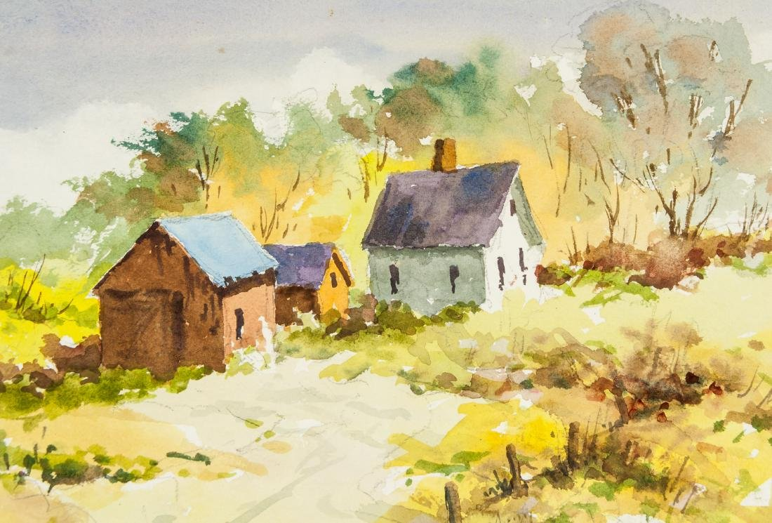 Edward Garbely 1908-1999 Amer Watercolor on Paper