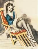 Gil Elvgreen American 19141980 Watercolor