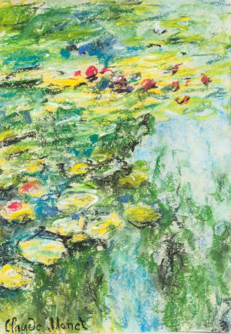 Claude Monet French 1840-1926 Tempera & Pastel