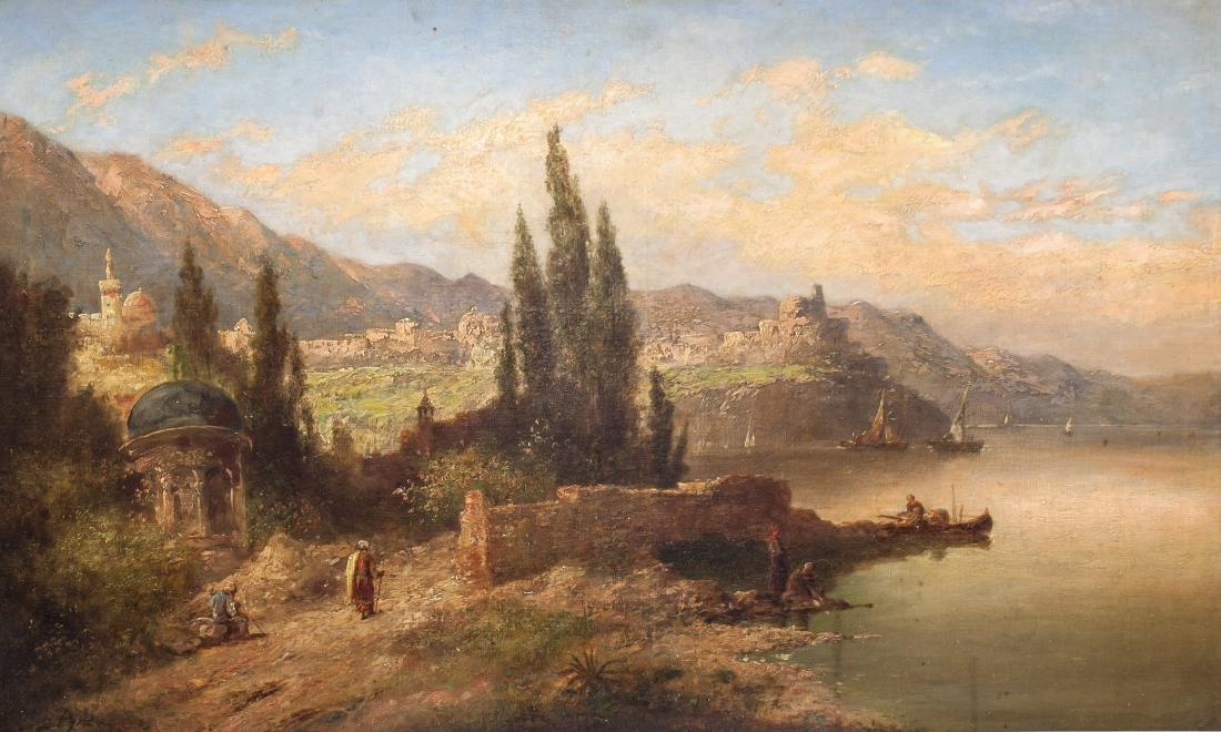 James Baker Pyne English 1800-1879 Oil on Board